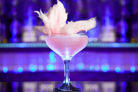 candy floss cocktail